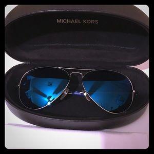 Michael Kors Blue Mirrored Aviator Sunglasses 😎